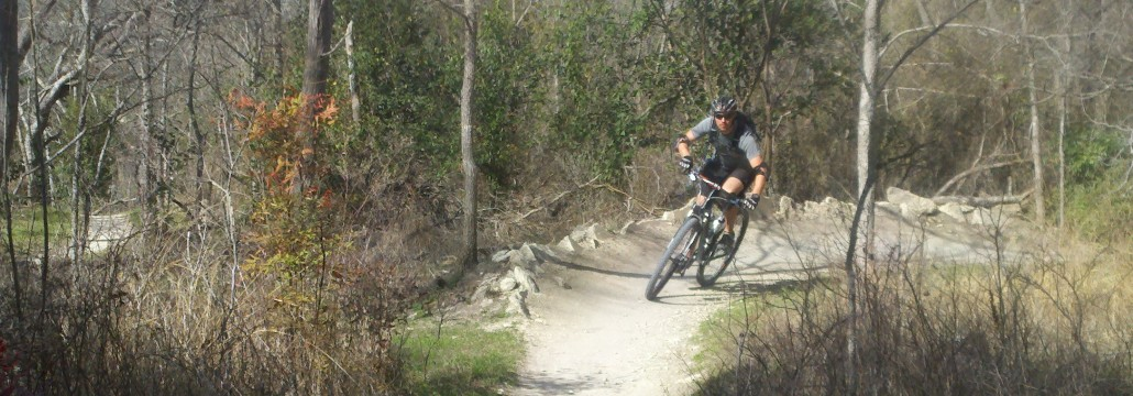 mountain bike cornering