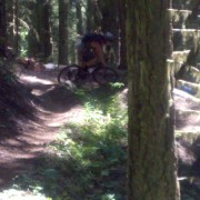 Shawn Neer, Downhill switchback in Pemberton, BC