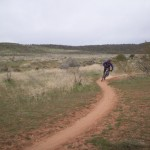 Practicing Cornering on Trail, Hurricane, UT Camp