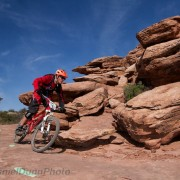 Long time student and now coach Brian Buell racing enduro in Moab.