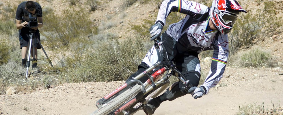 Mountain bike cornering foot position!