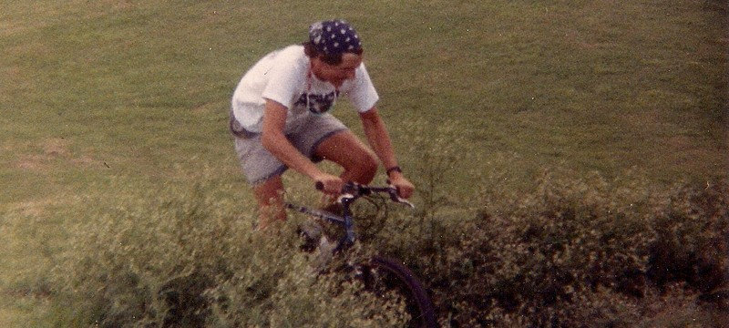 BetterRide founder Gene Hamilton's first mountain bike