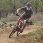 mountain bike student cornering