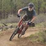 mountain bike student cornering