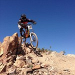 Student Jon Widen Riding Smooth and Fast at Bootleg Canyon.