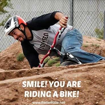 Choose to Be Unreasonably Happy When You Ride