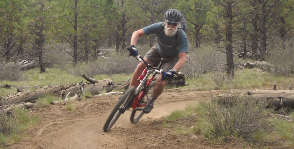 65 Year Old Mountain Biker Killing It! BetterRide Students Have More Fun!
